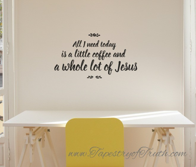 A Little Coffee & a Lot of Jesus - Design #2