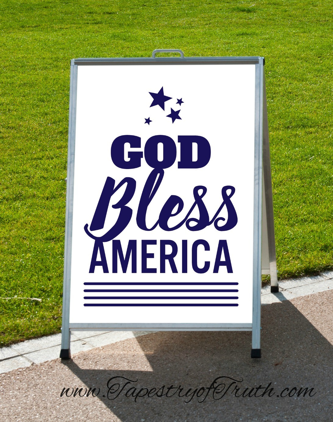 God Bless America - decal2