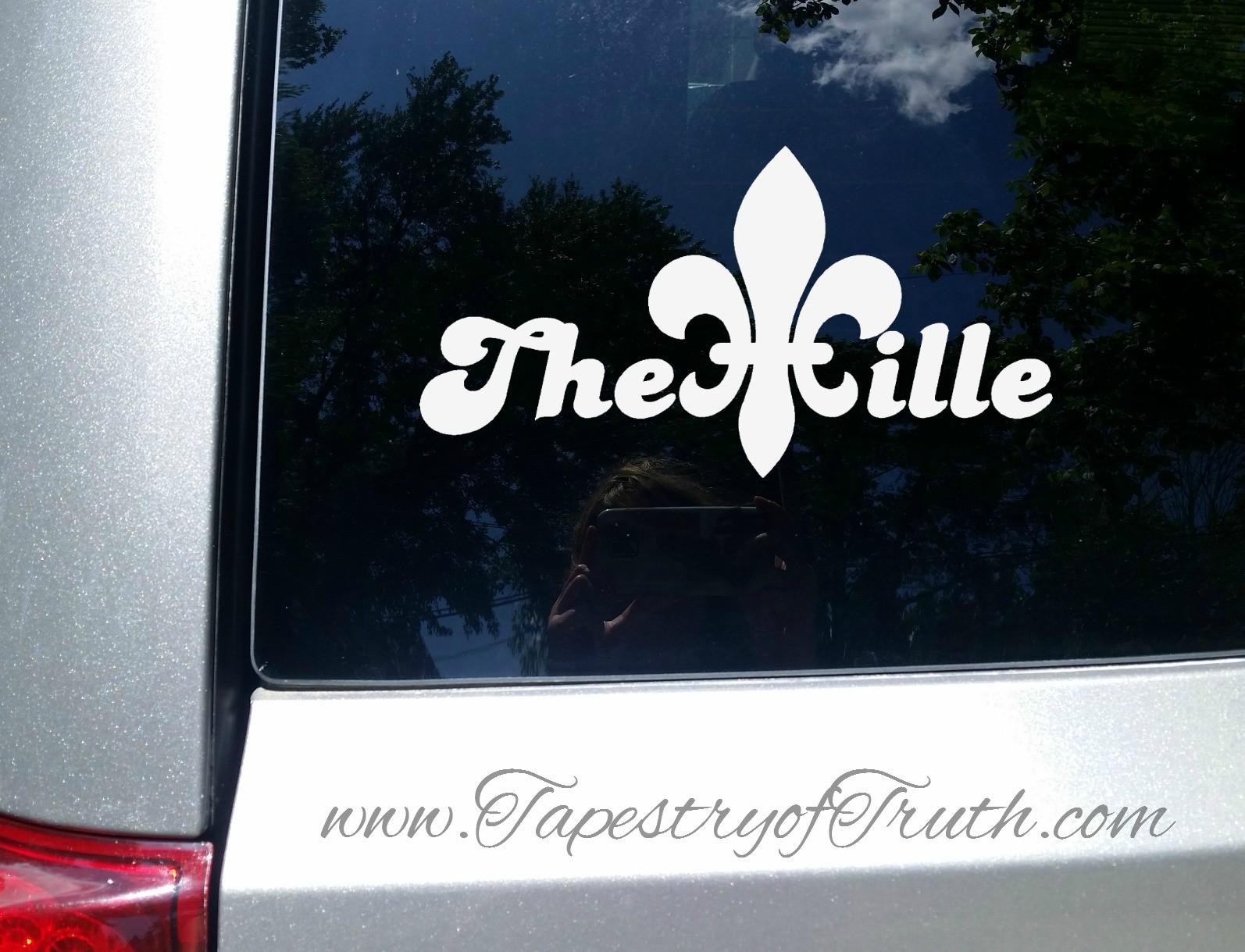 The Ville Fleur de Lis - Car Decal