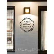 1 Thess 5:17 Wreath Decal2