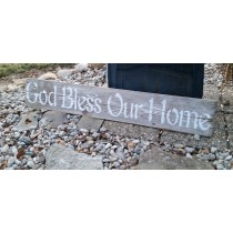 God Bless Our Home Stencil