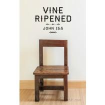 Vine ripened. John 15:5