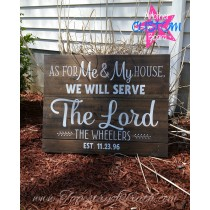 Joshua 24:15 - Family Name & Est Date - Decal 1