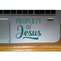 Property of Jesus - Laptop Decal