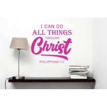 I can do all things through Christ. Philippians 4:13