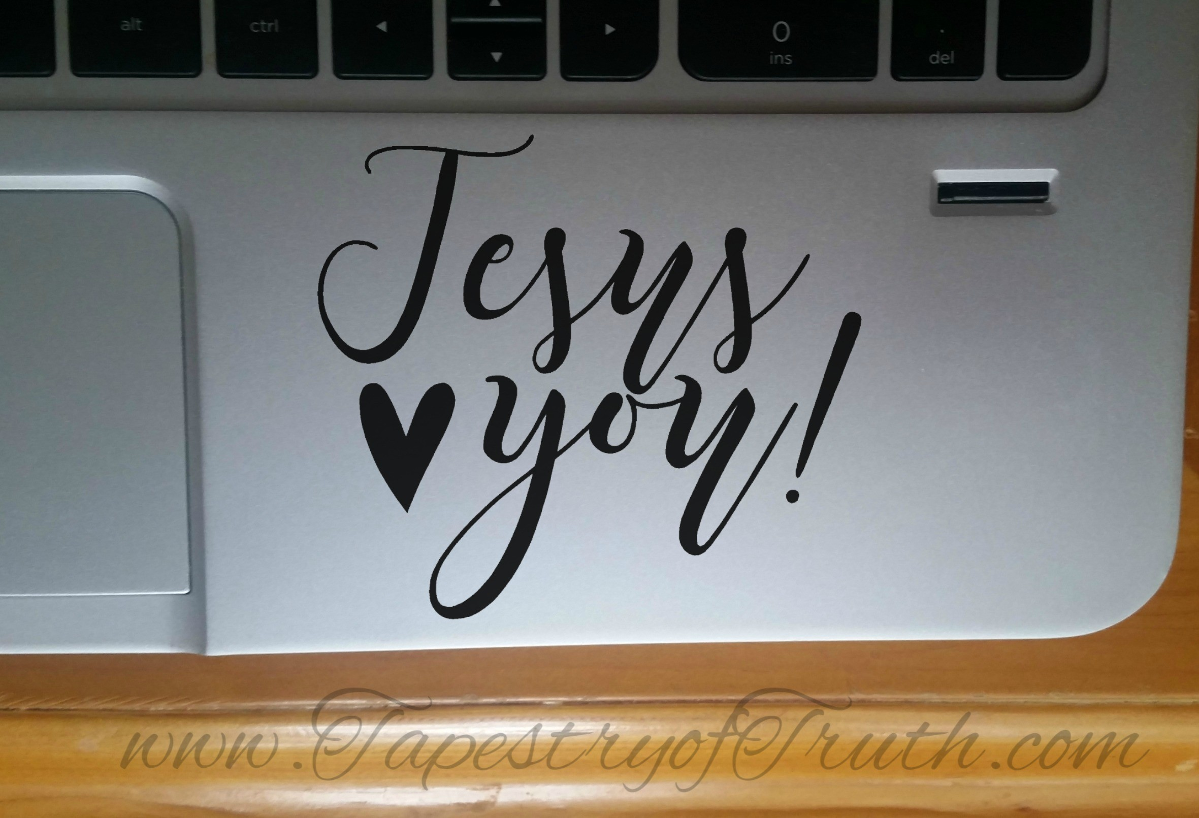 Jesus loves you! - Laptop Decal