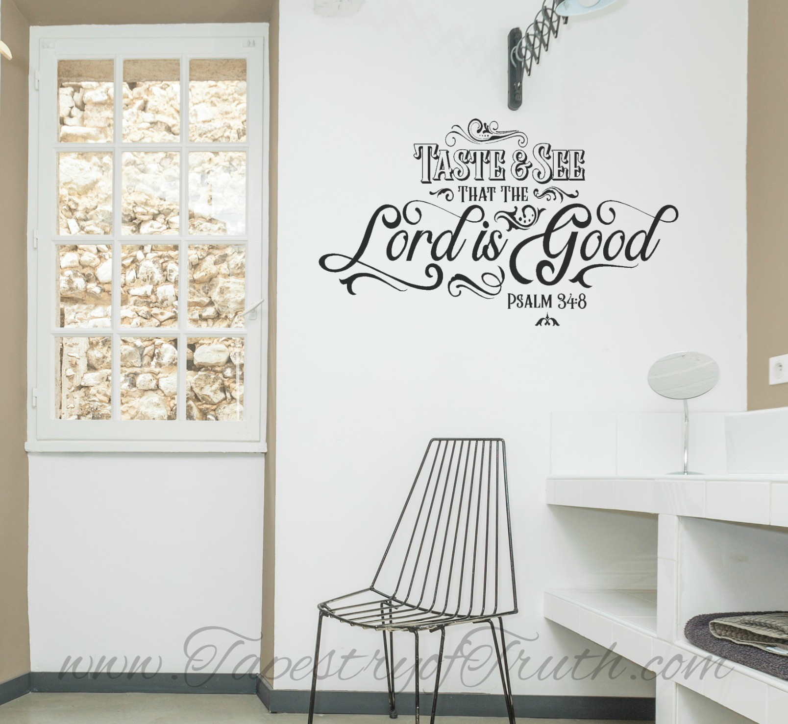 Taste and see that the Lord is good. Psalm 34:8