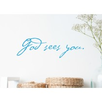 God sees you.
