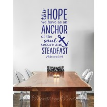 Hebrews 6:19 - Decal 1