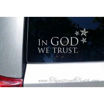 In God We Trust - car decal