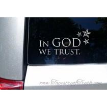 In God We Trust - car decal