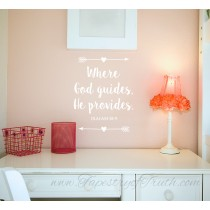 Where God guides, He provides. Isaiah 58:11