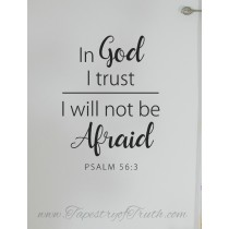 Psalm 56:3 decal